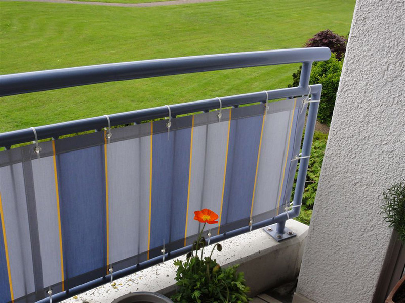 Balkon Sichtschutz Balkonbespannung